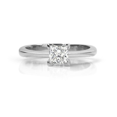 Classic Princess Cut Canadian Diamond Engagement Ring