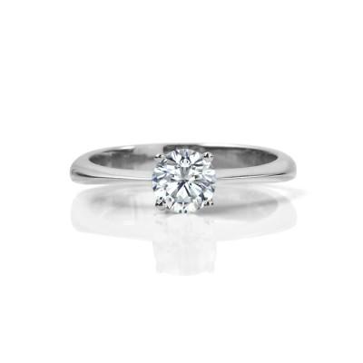 Classic Round Brilliant Canadian Diamond Engagement Ring