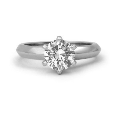 Classic Six Prong Diamond Solitaire Engagement Ring