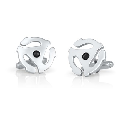 Handmade Sterling Silver 45 Centre Cufflinks