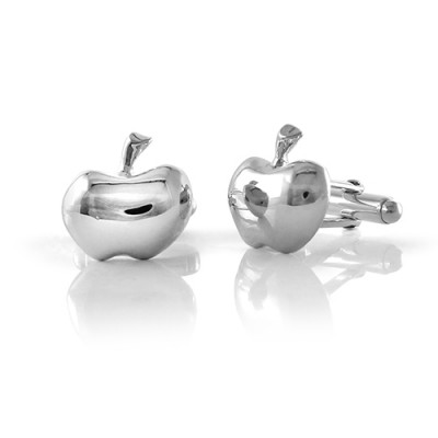 Handmade Sterling Silver Apple Cufflinks