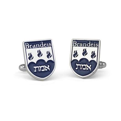 Handmade Sterling Silver Brandeis University Cufflinks
