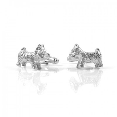 Handmade Sterling Silver Dog Cufflinks