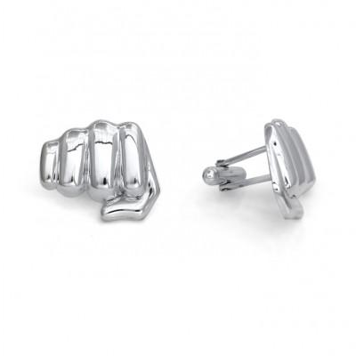 "Handmade Sterling Silver ""Fisty Cuff"" Cufflinks"