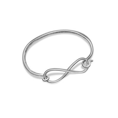 Handmade Sterling Silver/White Gold/Platinum Infinity Bracelet
