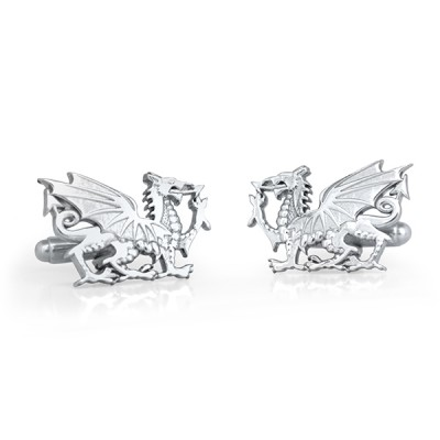 Handmade Sterling Silver Dragon Cufflinks