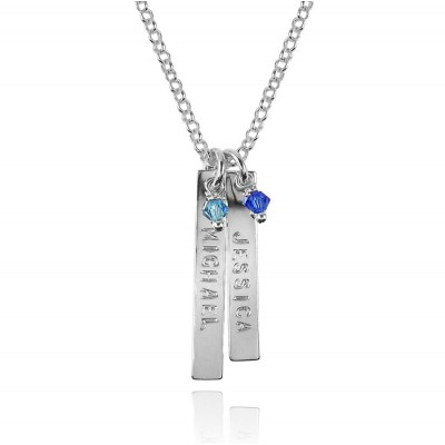 Sterling Silver Name Necklace with Swarovski Crystals