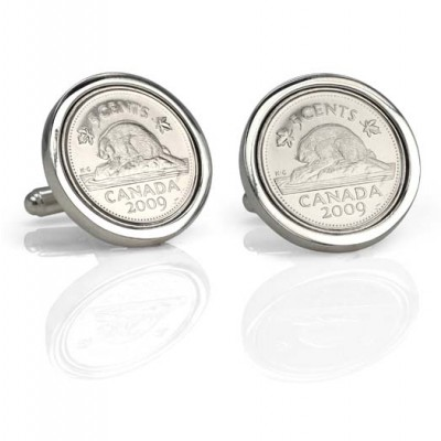 "Handmade Sterling Silver ""If I had a Nickel"" Cufflinks"