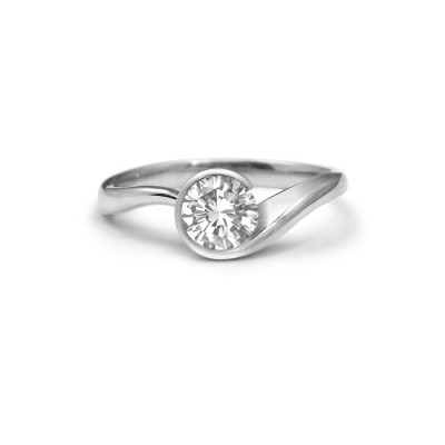 Swirl Diamond Engagement Ring Toronto