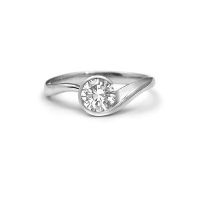 Swirl Diamond Engagement Ring Toronto