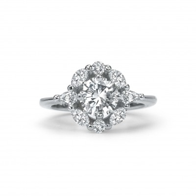 Vintage Flower Engagement Ring Toronto