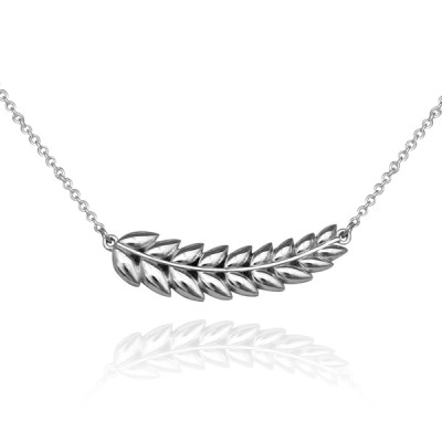 Sterling Silver/White Gold/Platinum Laurel Necklace