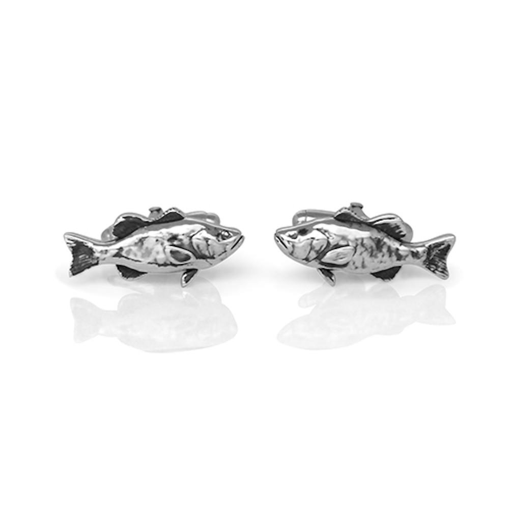 Handmade sterling silver gone fishin 39 cufflinks studio1098 toronto - Gone fishin flatware ...