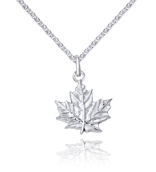 Handmade sterling silver maple leaf charm pendants handmade sterling silver maple leaf charm pendant aloadofball Gallery