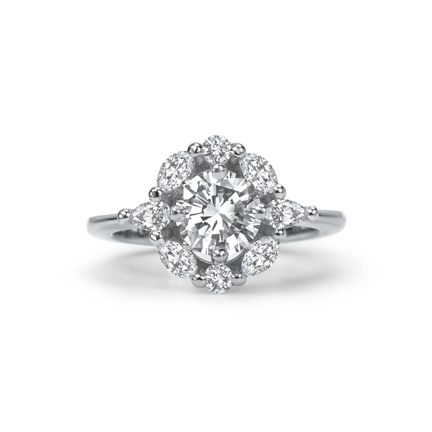 diamond engagement daimond copy half ring rings harkness ena quater carat products