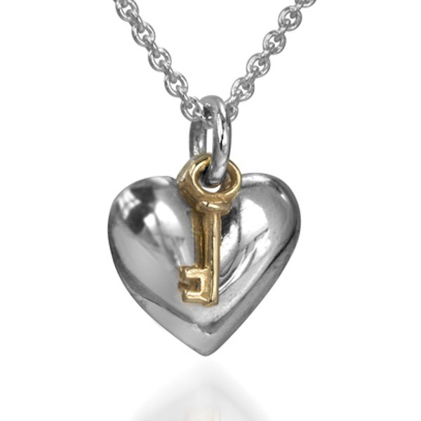 Key to my heart pendant heart necklace studio1098 toronto mozeypictures Images