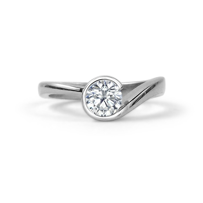 Canadian Diamond Swirl Engagement Ring Studio1098 Toronto