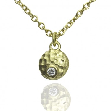 14K Yellow Gold Luna Collection Diamond Pendant