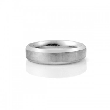 Beveled Wedding Band