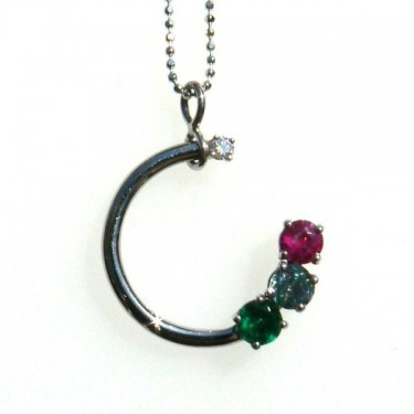 Birthstone Circle Pendant
