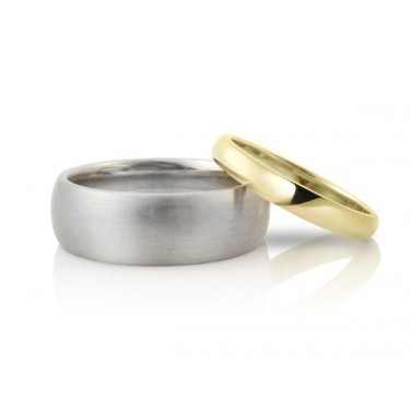 Classic Wide Half-Round Wedding Bands (6-7 mm)