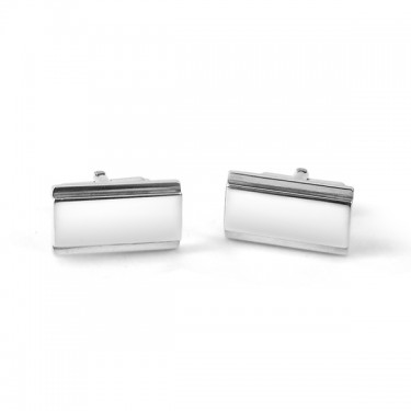Handmade Sterling Silver Engraveable Bar Cufflinks