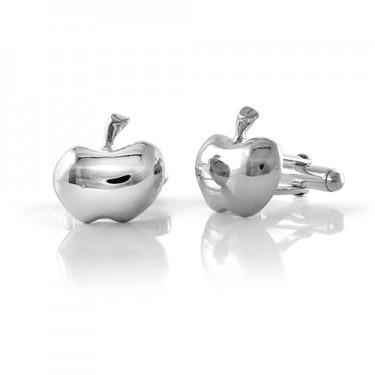 Handmade Sterling Silver Apple Cufflinks