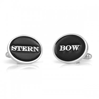 Handmade Sterling Silver Bow and Stern Cufflinks