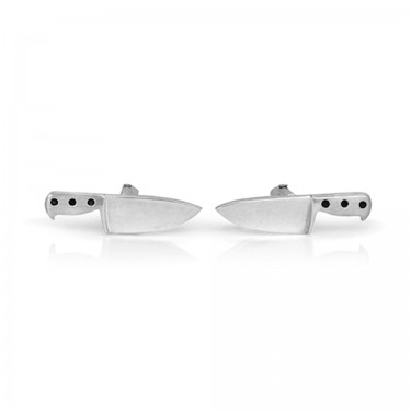 Handmade Sterling Silver Chef Knife Cufflinks
