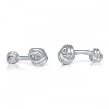 Handmade Sterling Silver Double Knot Cufflinks