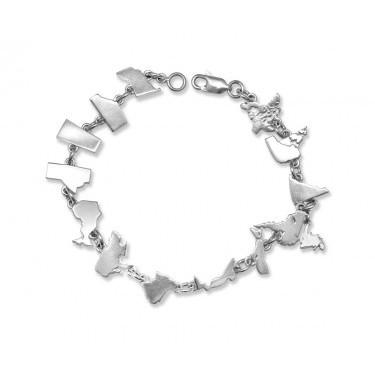 Handmade Sterling Silver Canadian Confederation Bracelet