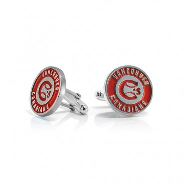 Handmade Sterling Silver Vancouver Canadians Cufflinks