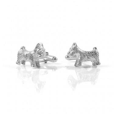 Handmade Sterling Silver Dog Cufflinks
