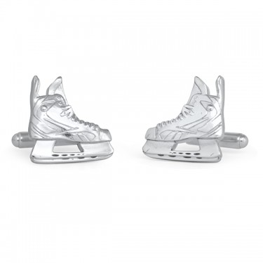 Handmade Sterling Silver Hockey Skate Cufflinks
