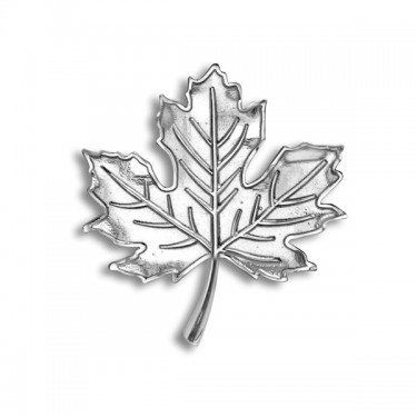 Handmade Sterling Silver Maple Leaf Brooch