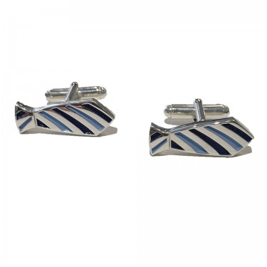 Handmade Sterling Silver Neck Tie Cufflinks