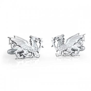 Handmade Sterling Silver Dragon Cufflinks