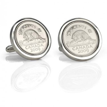 "Handmade Sterling Silver ""If I had a Nickel"" Cufflinks"
