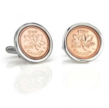 Handmade Sterling Silver Penny Cufflinks