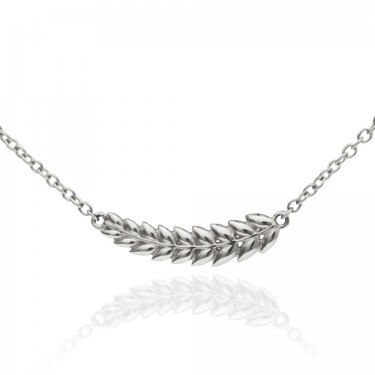 Sterling Silver Petite Laurel Necklace