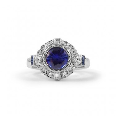 Vintage-Inspired Sapphire Engagement Ring