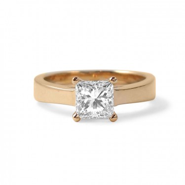 Princess Cut Solitaire Diamond Engagement Ring