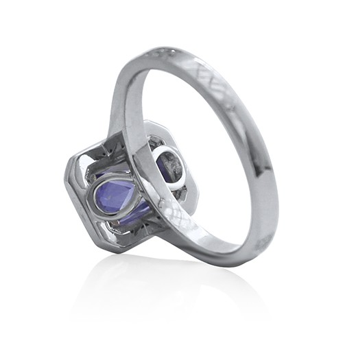Infinite Love Sapphire Engagement Ring with Diamond Accents