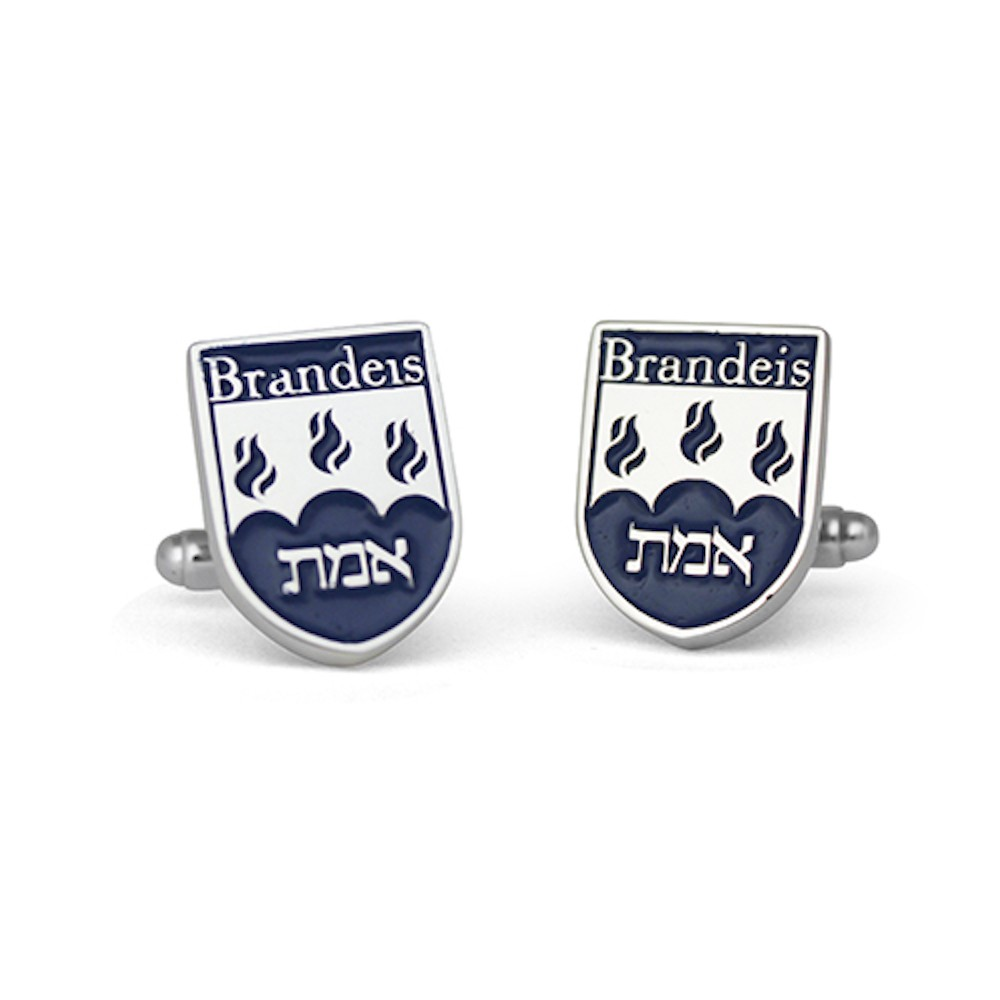 Handmade Sterling Silver Custom Brandeis University Cufflinks