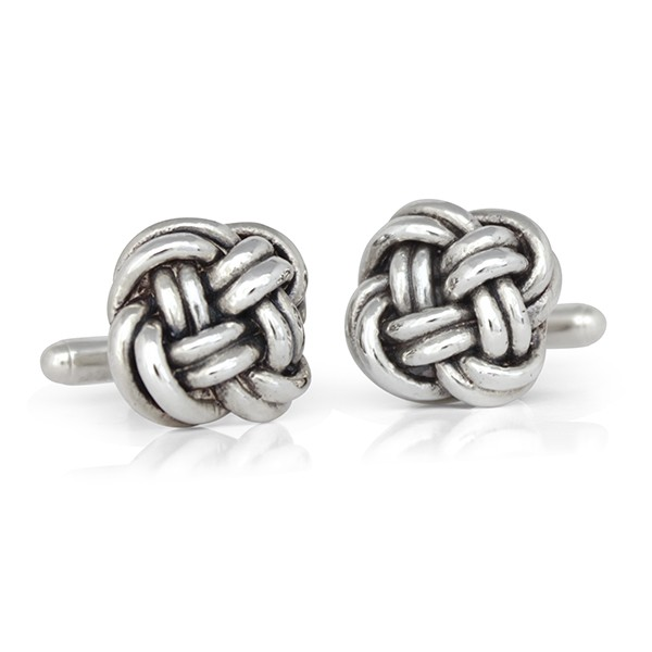 Handmade Sterling Silver Forget Me Knot Cufflinks
