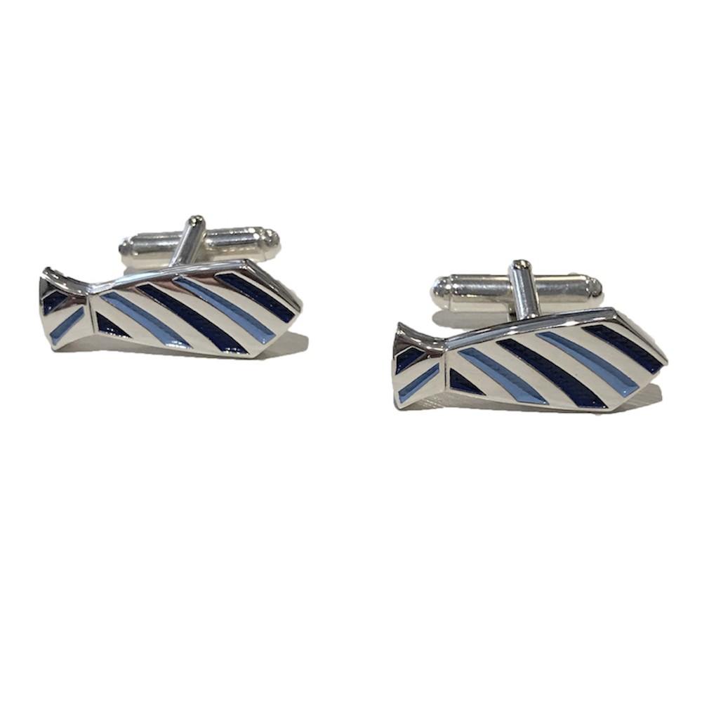 Handmade Sterling Silver Necktie Cufflinks