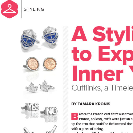 Cufflinks, a Timeless Fashion Trend
